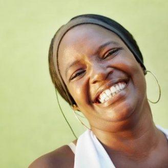 Smiling woman self esteem