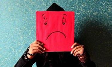mental health sad face drawing